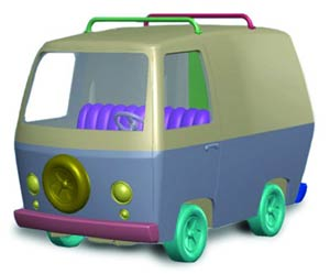 Scooby-Doo Mystery Machine Snap Model Kit