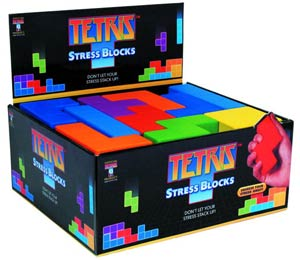 Tetris Stress Blocks 28-Piece Display