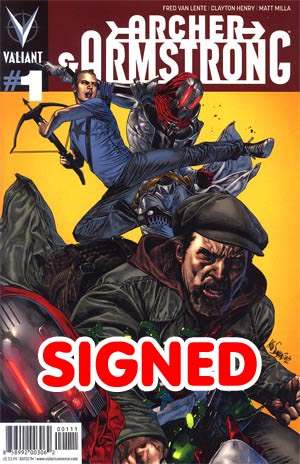 Archer & Armstrong Vol 2 #1 1st Ptg Regular Mico Suayan Cover Signed By Fred Van Lente