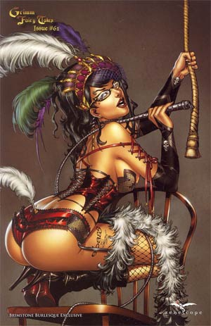 Grimm Fairy Tales #61 Brimstone Exclusive E-Bas Burlesque Variant Cover