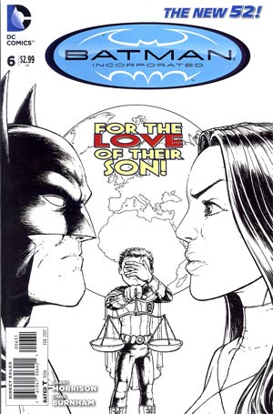 Batman Incorporated Vol 2 #6 Incentive Chris Burnham Sketch Cover