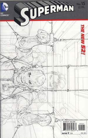 Superman Vol 4 #15 Incentive Kenneth Rocafort Sketch Cover (Hel On Earth Part 7)