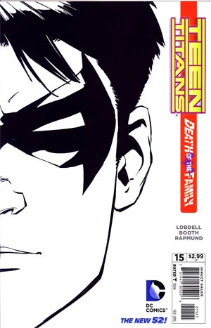 Teen Titans Vol 4 #15 Incentive Brett Booth Sketch Cover (Death Of The Family Tie-In)