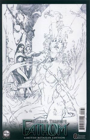 Fathom Vol 4 #8 Cover C Incentive Michael Konat Sketch Cover