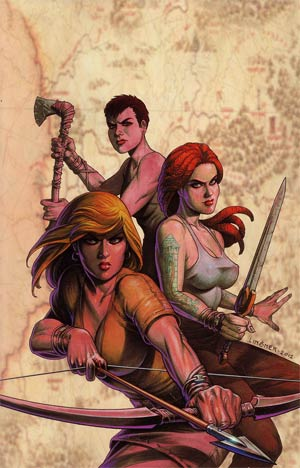 Damsels #4 Incentive Joseph Michael Linsner Virgin Cover