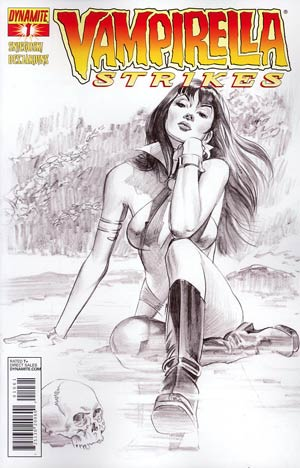 Vampirella Strikes Vol 2 #1 Incentive Mike Mayhew Sketch Variant Cover