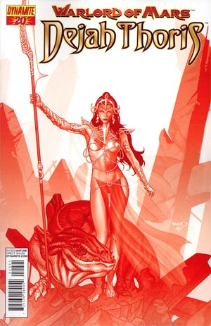 Warlord Of Mars Dejah Thoris #20 Incentive Paul Renaud Martian Red Cover