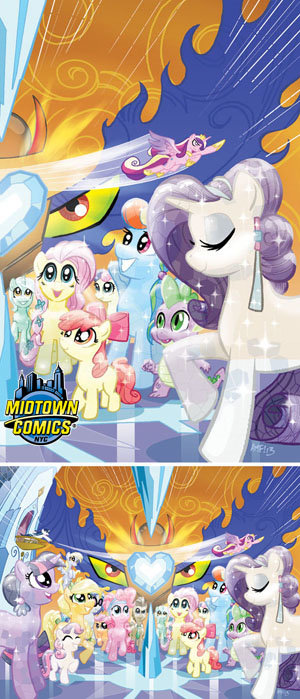My Little Pony Friendship Is Magic #5 Midtown Exclusive Tony Fleecs Crystal Ponies Part 2 Of 2 Variant Cover