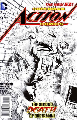Action Comics Vol 2 #16 Incentive Rags Morales Sketch Cover