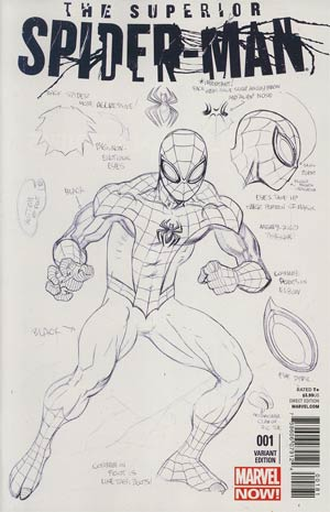 Superior Spider-Man #1 Incentive Ed McGuinness Design Variant Cover