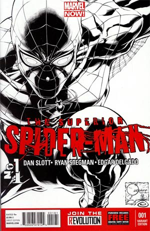 Superior Spider-Man #1 Incentive Joe Quesada Sketch Cover