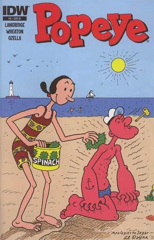 Popeye Vol 3 #9 Incentive Al Jaffee Variant Cover