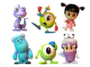 Monsters Inc Cosbaby 6-Piece Set