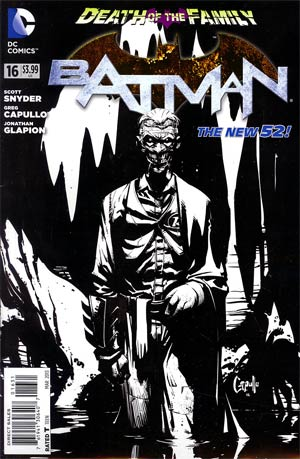 Batman Vol 2 #16 Incentive Greg Capullo Sketch Cover (Death Of The Family Tie-In)