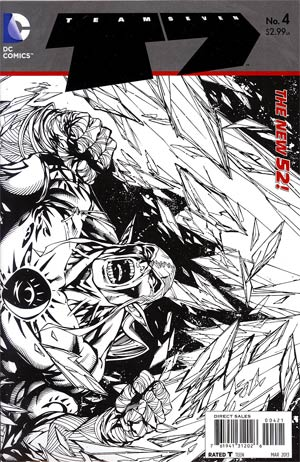 Team 7 Vol 2 #4 Incentive Tyler Kirkham Sketch Cover