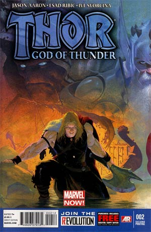Thor God Of Thunder #2 2nd Ptg Esad Ribic Variant Cover