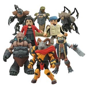Battle Beasts Minimates Series 1 Merk The Falcon & Spider 2-Pack