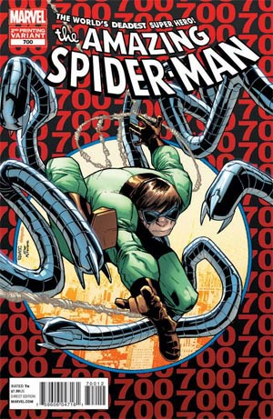 Amazing Spider-Man Vol 2 #700 2nd Ptg Original Humberto Ramos Variant Cover