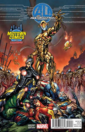 Age Of Ultron #1 Midtown Exclusive J Scott Campbell Color Variant Cover