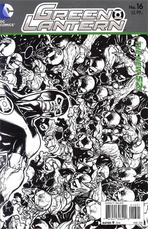 Green Lantern Vol 5 #16 Incentive Doug Mahnke Sketch Cover (Rise Of The Third Army Tie-In)