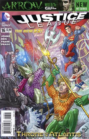 Justice League Vol 2 #16 Variant Langdon Foss Cover (Throne Of Atlantis Part 3)