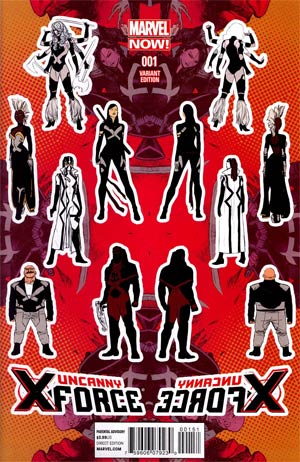 Uncanny X-Force Vol 2 #1 Incentive Kris Anka Design Variant Cover