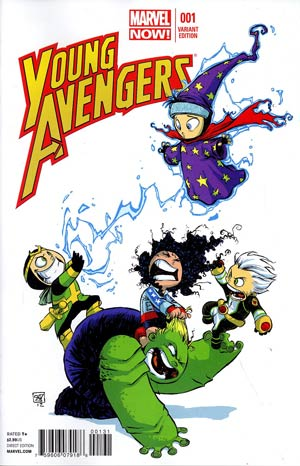 Young Avengers Vol 2 #1 Variant Skottie Young Baby Cover