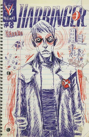 Harbinger Vol 2 #8 Incentive Jeff Lemire Line-Wide Variant Cover