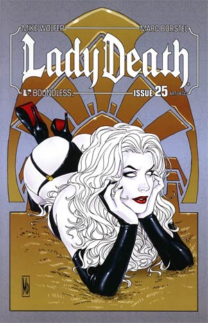 Lady Death Vol 3 #25 Incentive Art Deco Variant Cover
