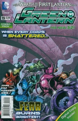 Green Lantern Vol 5 #19 Combo Pack With Polybag (Wrath Of The First Lantern Tie-In)