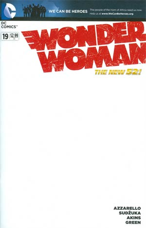 Wonder Woman Vol 4 #19 Variant We Can Be Heroes Blank Cover