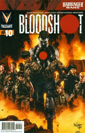 Bloodshot Vol 3 #10 Regular Mico Suayan Cover (Harbinger Wars Tie-In)