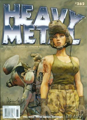 Heavy Metal #262 Featuring Dravn Newsstand Edition