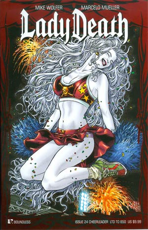 Lady Death Vol 3 #24 Cheerleader Cover