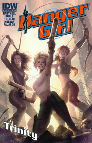 Danger Girl Trinity #1 Variant Alex Garner Subscription Cover