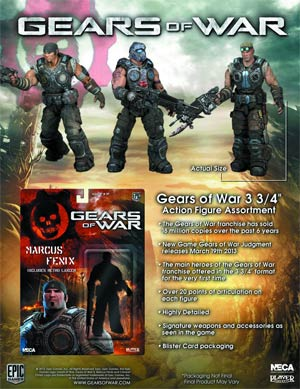 Gear Of War 3-3/4 Inch Action Figure Assortment Case