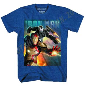 Iron Man 3 Blast Team-M Previews Exclusive Navy Heather T-Shirt Large
