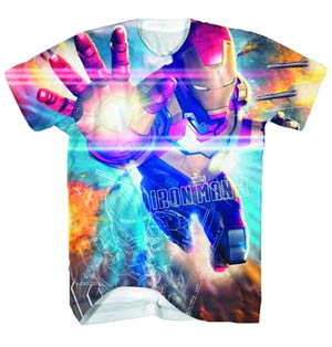 Iron Man 3 Spec 42-M White Sublimated T-Shirt Large
