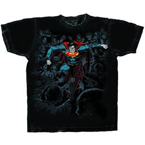 Superman Defense Black T-Shirt Large