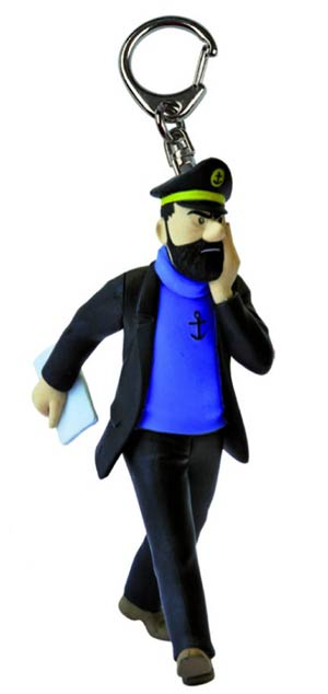 Tintin PVC Keyring - Captain Haddock Newspaper