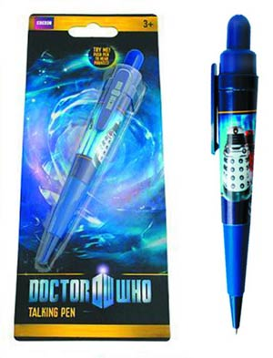 Doctor Who Dalek & Cyberman Talking Pen Set