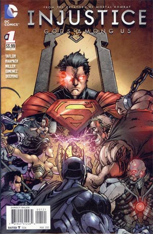 Injustice Gods Among Us #1 Incentive Jheremy Raapack Variant Cover