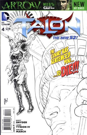 Talon #4 Incentive Guillem March Sketch Cover