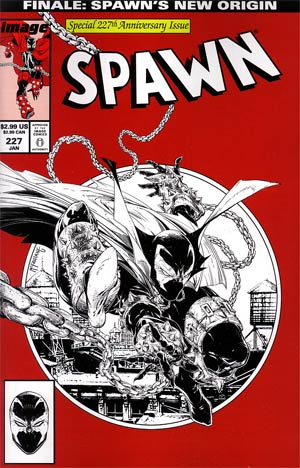 Spawn #227 Incentive Todd McFarlane Sketch Cover