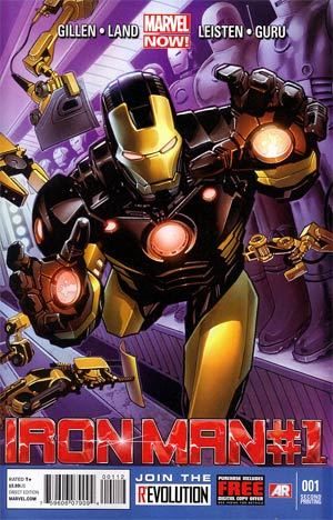 Iron Man Vol 5 #1 2nd Ptg Greg Land Variant Cover