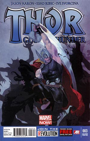 Thor God Of Thunder #3 2nd Ptg Esad Ribic Variant Cover