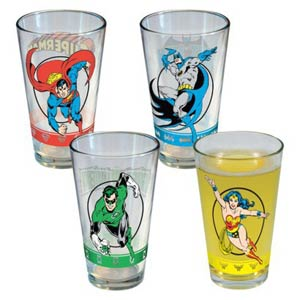 DC Comics 4-Piece 16-Ounce Glasses