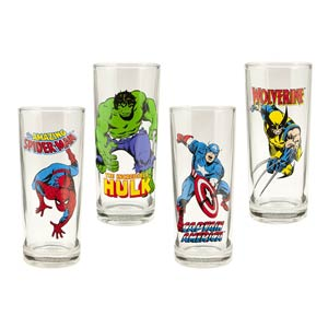 Marvel Comics 4-Piece 10-Ounce Glasses