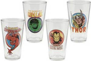 Marvel Comics 4-Piece 16-Ounce Glasses