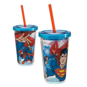 Superman 12-Ounce Acrylic Travel Cup